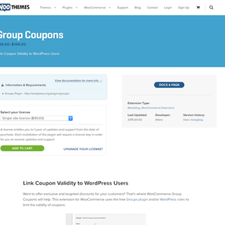 Extensión para WooCommerce: Group Coupons