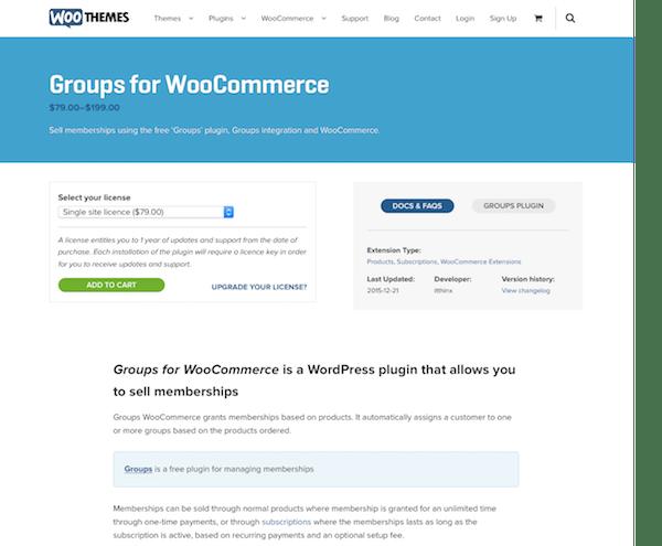 Extensión para WooCommerce: Groups for WooCommerce