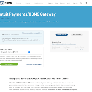 Extensión para WooCommerce: Intuit Payments QBMS Gateway