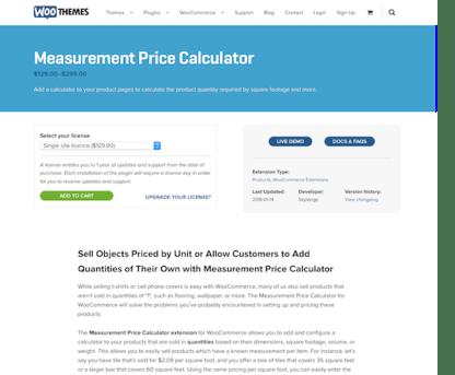 Extensión para WooCommerce: Measurement Price Calculator
