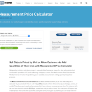 Extensión para WooCommerce: Measurement Price Calculator