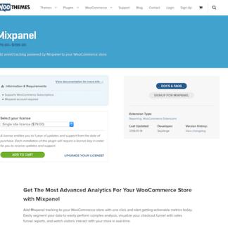 Extensión para WooCommerce: Mixpanel