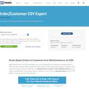 Extensión para WooCommerce: Order Customer CSV Export