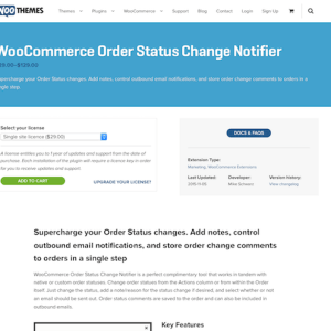 Extensión para WooCommerce: Order Status Change Notifier