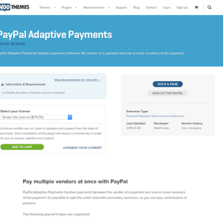 Extensión para WooCommerce: PayPal Adaptive Payments
