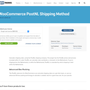 Extensión para WooCommerce: PostNL Shipping Method
