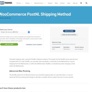 Extensión para WooCommerce: PostNL Shipping Method