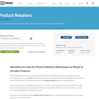Extensión para WooCommerce: Product Retailers