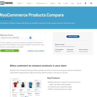 Extensión para WooCommerce: Products Compare