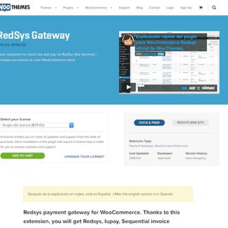 Extensión para WooCommerce: RedSys Gateway