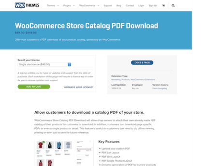 Extensión para WooCommerce: Store Catalog PDF Download