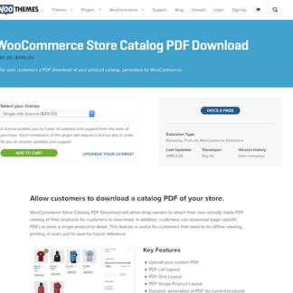 Extensión para WooCommerce: Store Catalog PDF Download
