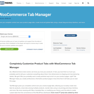 Extensión para WooCommerce: Tab Manager