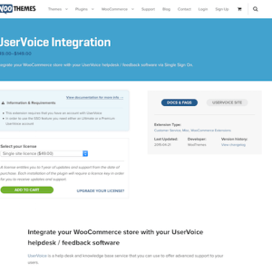 Extensión para WooCommerce: UserVoice Integration