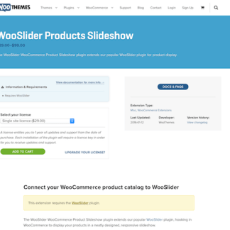 Extensión para WooCommerce: WooSlider Products Slideshow