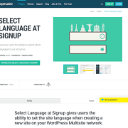 WPMU DEV: Select Language at Signup WordPress Plugin