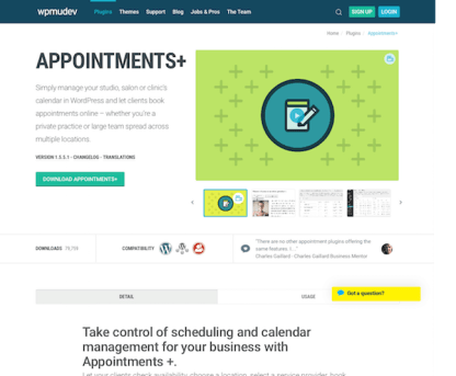 WPMU DEV: Appointments Plus WordPress Plugin