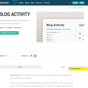 WPMU DEV: Blog Activity WordPress Plugin