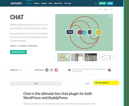 WPMU DEV: Chat WordPress Plugin