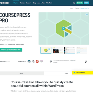 WPMU DEV: CoursePress Pro WordPress Plugin