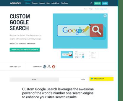 WPMU DEV: Custom Google Search WordPress Plugin