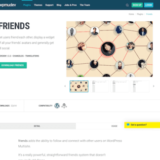 WPMU DEV: Friends WordPress Plugin