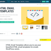 WPMU DEV: HTML Email Templates WordPress Plugin