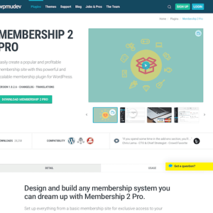 WPMU DEV: Membership 2 Pro WordPress Plugin