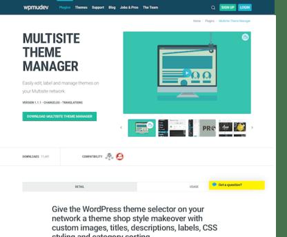 WPMU DEV: Multisite Theme Manager WordPress Plugin