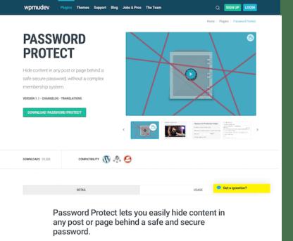 WPMU DEV: Password Protect WordPress Plugin