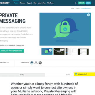 WPMU DEV: Private Messaging WordPress Plugin