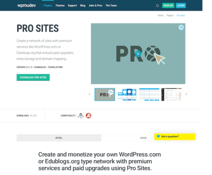 WPMU DEV: Pro Sites WordPress Plugin