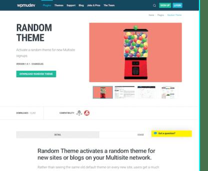 WPMU DEV: Random Theme WordPress Plugin