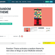 WPMU DEV: Random Theme WordPress Plugin