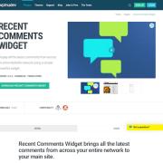 WPMU DEV: Recent Comments Widget WordPress Plugin