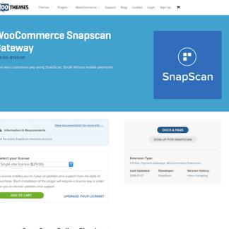 Extensión para WooCommerce: Snapscan Gateway