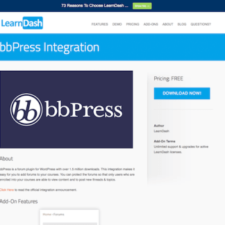 LearnDash LMS Add-On: bbPress Integration