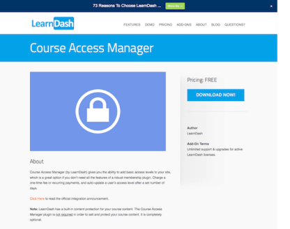 LearnDash LMS Add-On: Course Access Manager