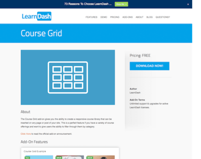 LearnDash LMS Add-On: Course Grid