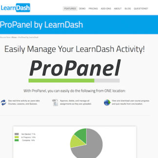 LearnDash LMS Add-On: ProPanel