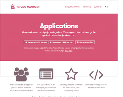 WP Job Manager Add-On: Applications