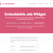 WP Job Manager Add-On: Embeddable Job Widget