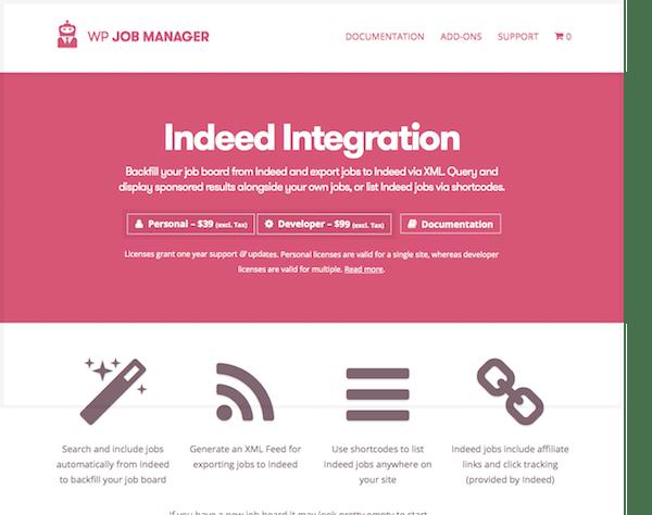 WP Job Manager Add-On: Indeed Integration - Mvkoen