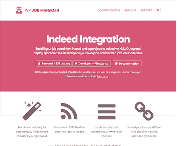 WP Job Manager Add-On: Indeed Integration