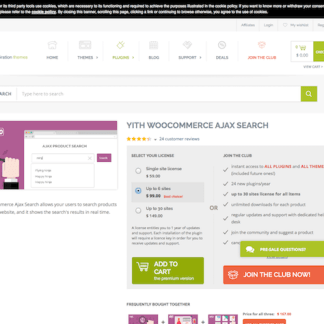 YITH WooCommerce: Ajax Search
