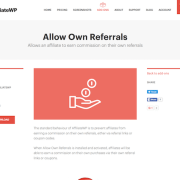 AffiliateWP: Allow Own Referrals