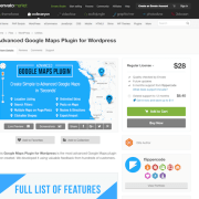 Codecanyon: Advanced Google Maps Plugin for WordPress