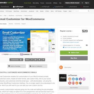 Codecanyon: Email Customizer for WooCommerce