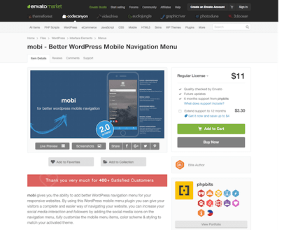 Codecanyon: Mobi - Better WordPress Mobile Menu