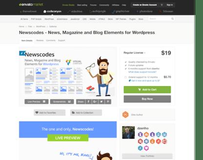 Codecanyon: Newscodes - News, Magazine and Blog Elements for WordPress